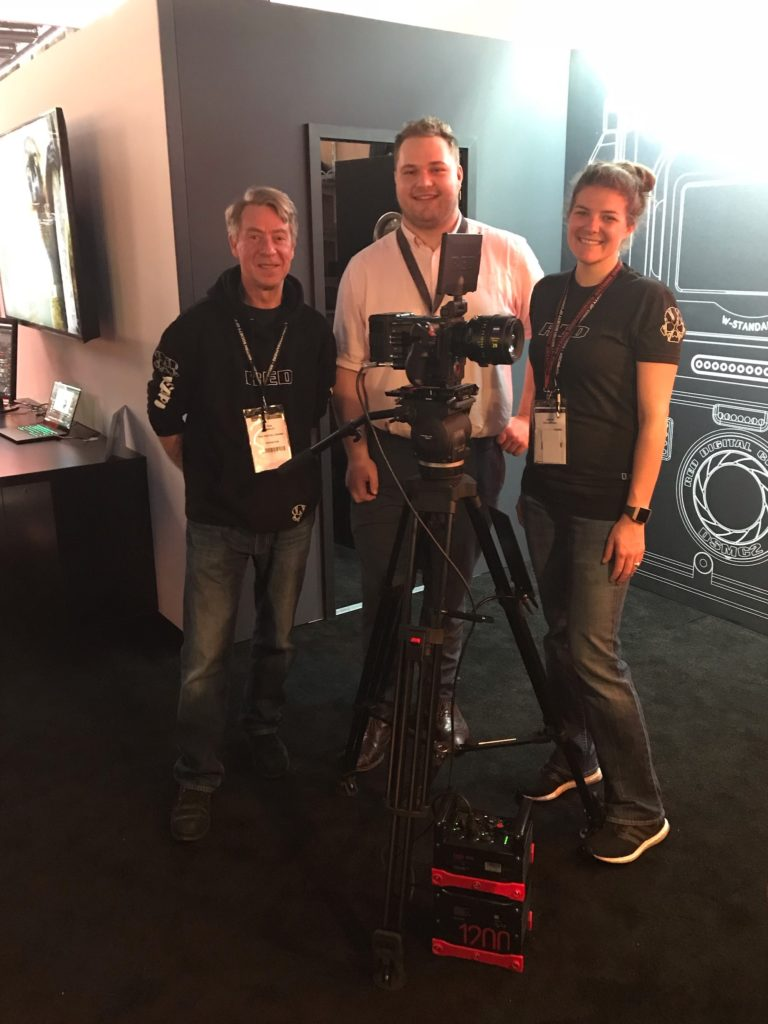 Jon with Janine Kolasinski and Rod Marley from RED at the BSC Expo in London.