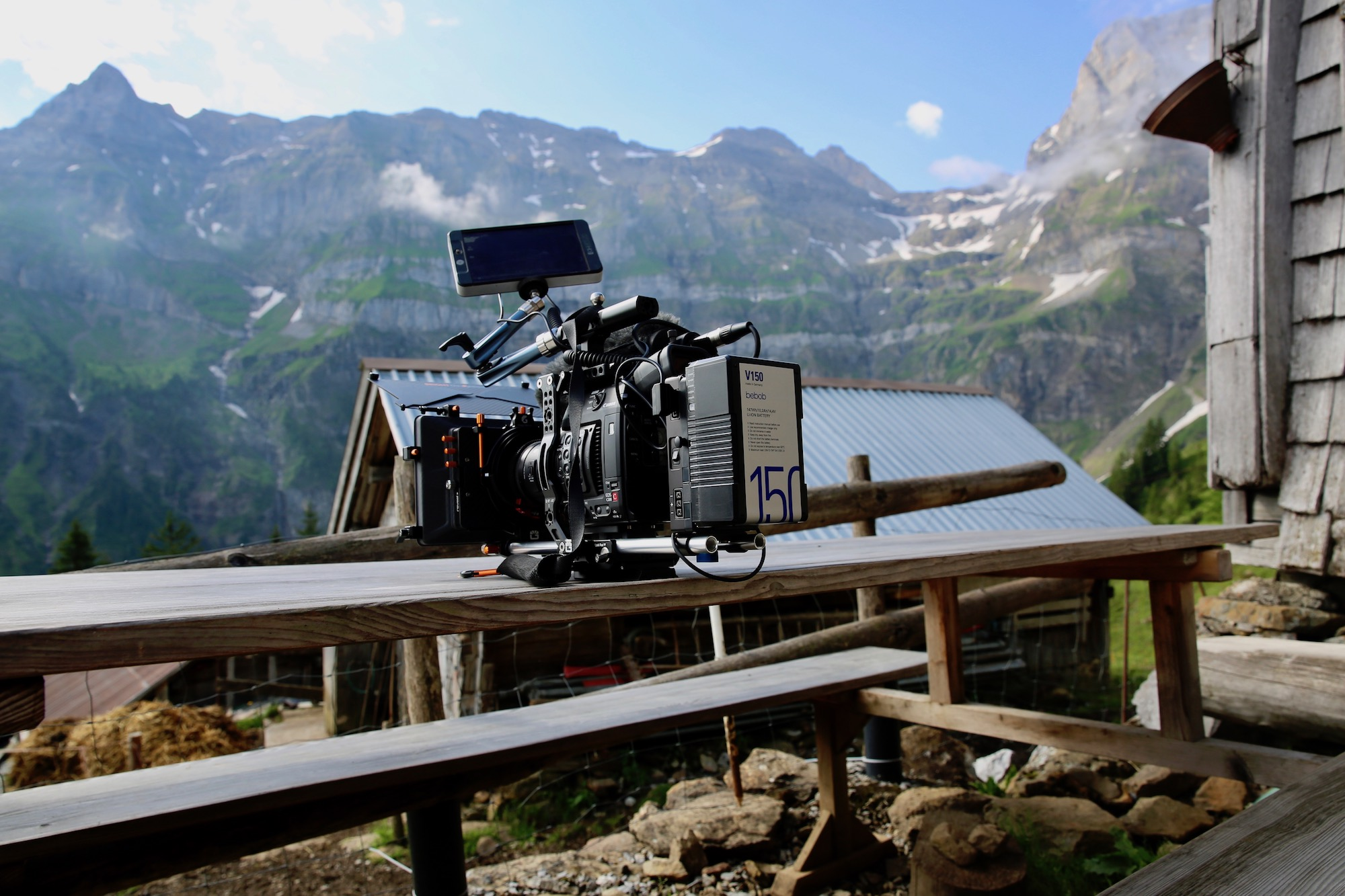 With bebob V150 batteries in the Swiss Mountains...